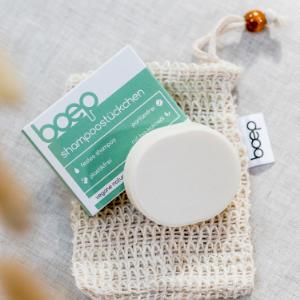 Teste jetzt das parfümfreie boep Shampoostückchen!