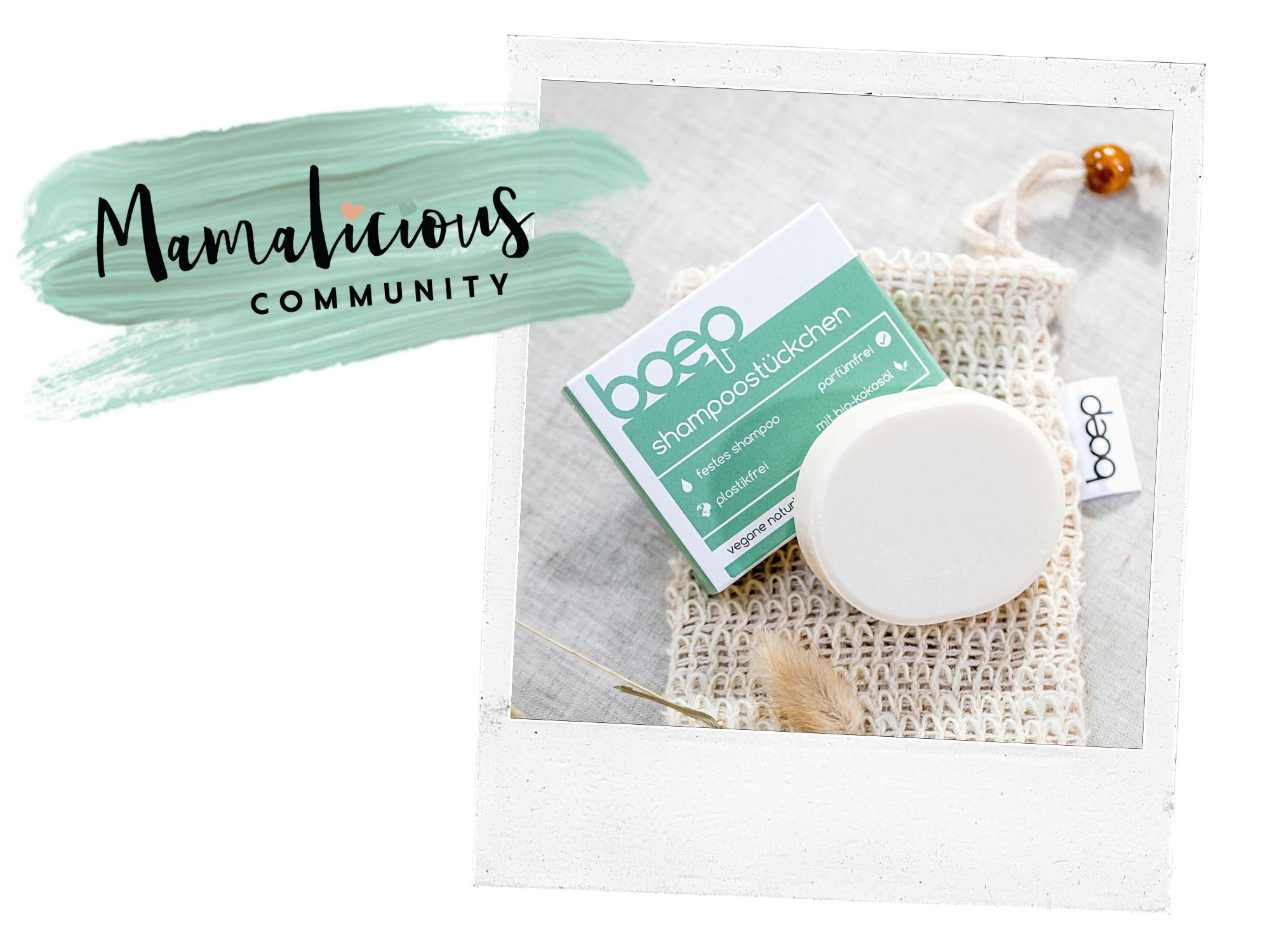 Mamalicious Produkttest mit dem boep Shampoostückchen