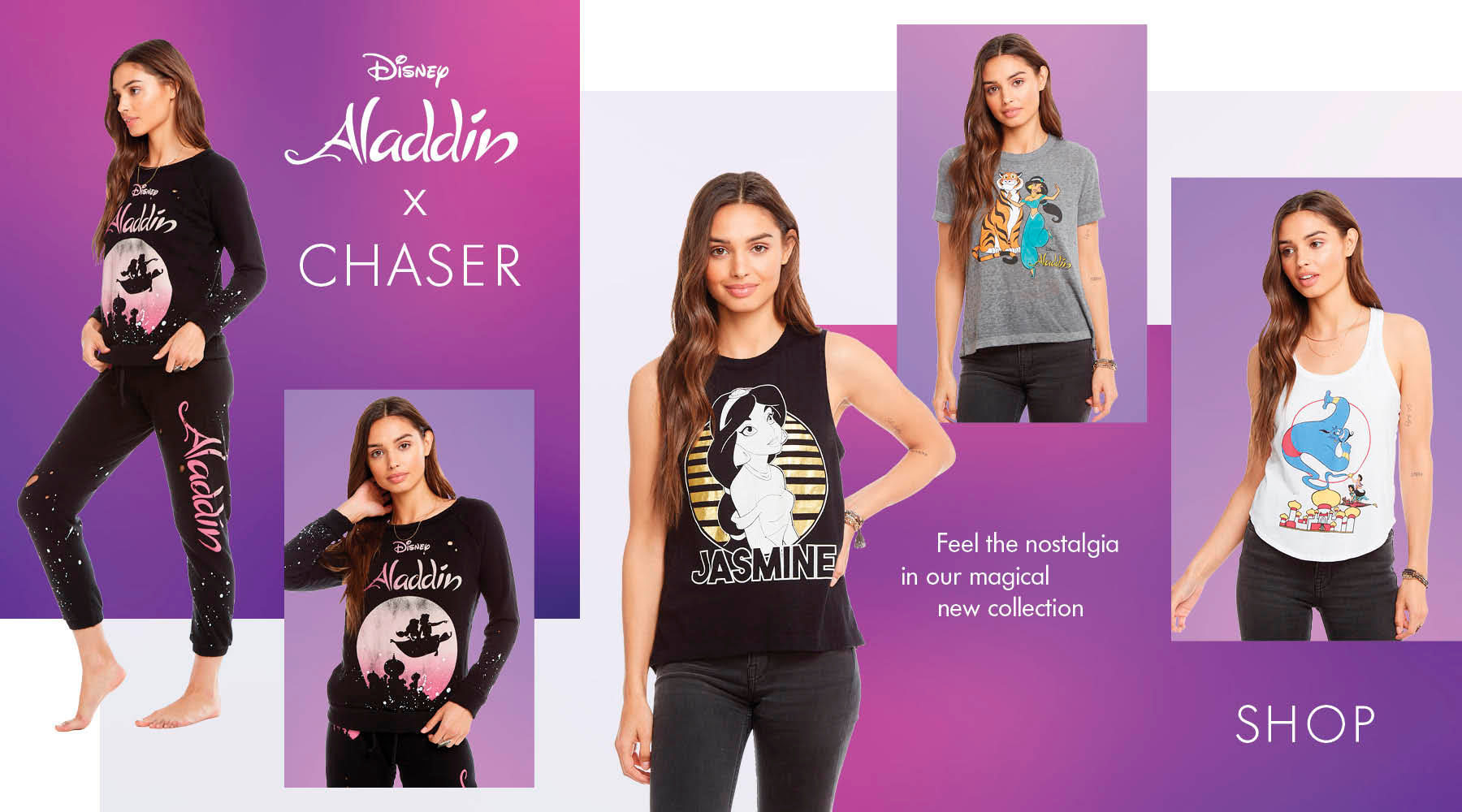 Check out all of Chaser and Disney's collaborations, including Disney's Minnie Mouse, Disney's the Little Mermaid, Pixar, Disney Aladdin, Disney's Frozen II and Star Wars!