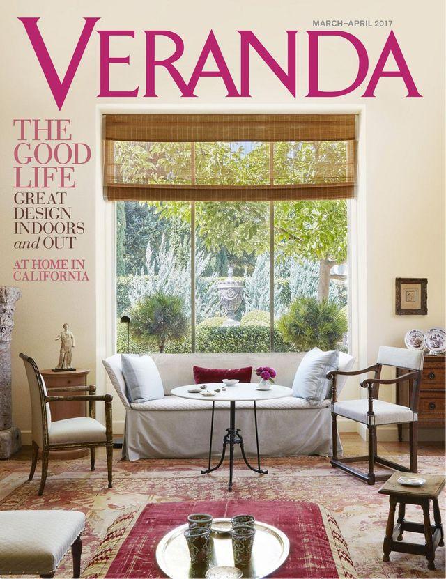 Veranda magazine publication featuring Colette Cosentino