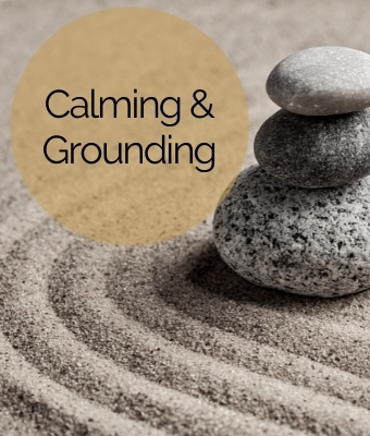 Crystals and gemstones to promote calmness and grounding