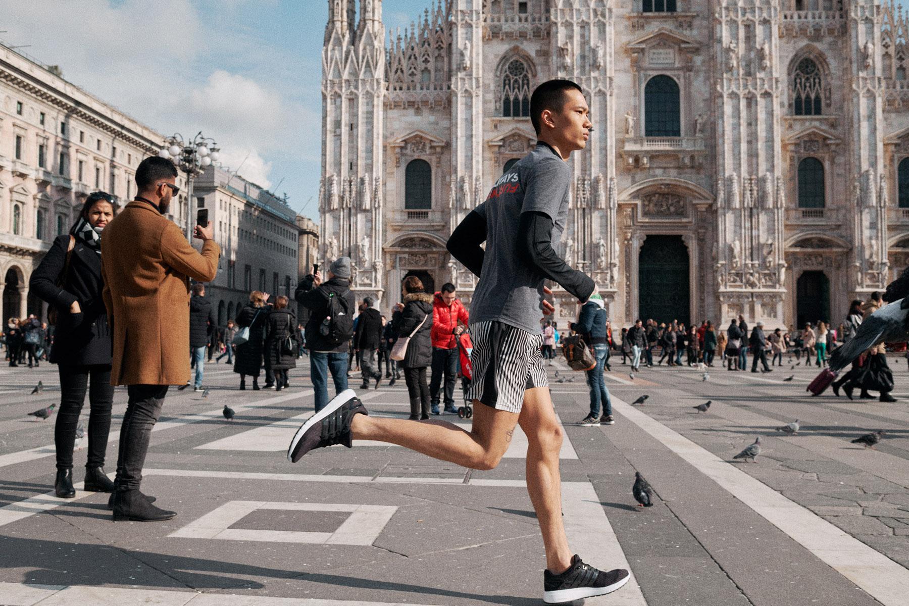 DOXA Run Power Generation shot in Milano