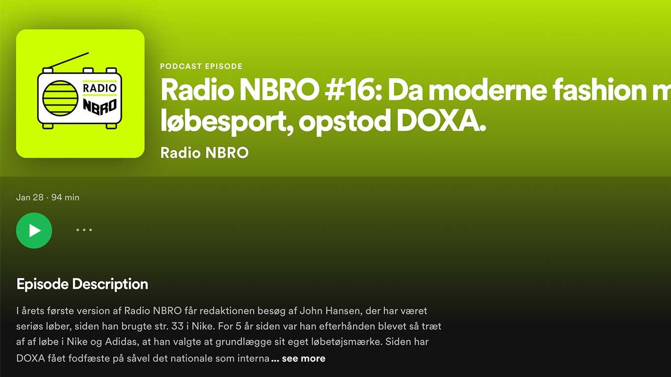 DOXA RUN meets Radio NBRO in the January podcast