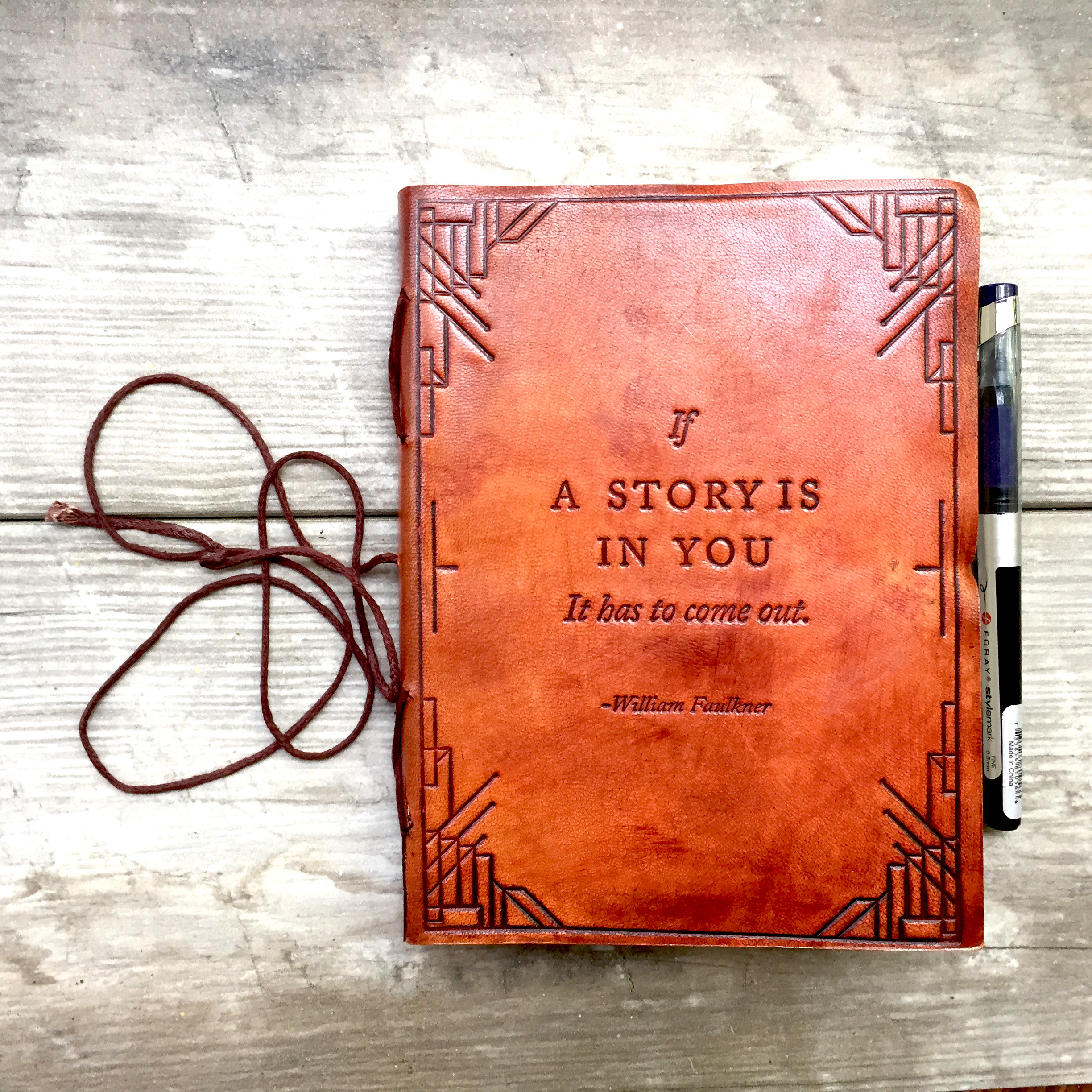 If A Story Soothi Leather Journal