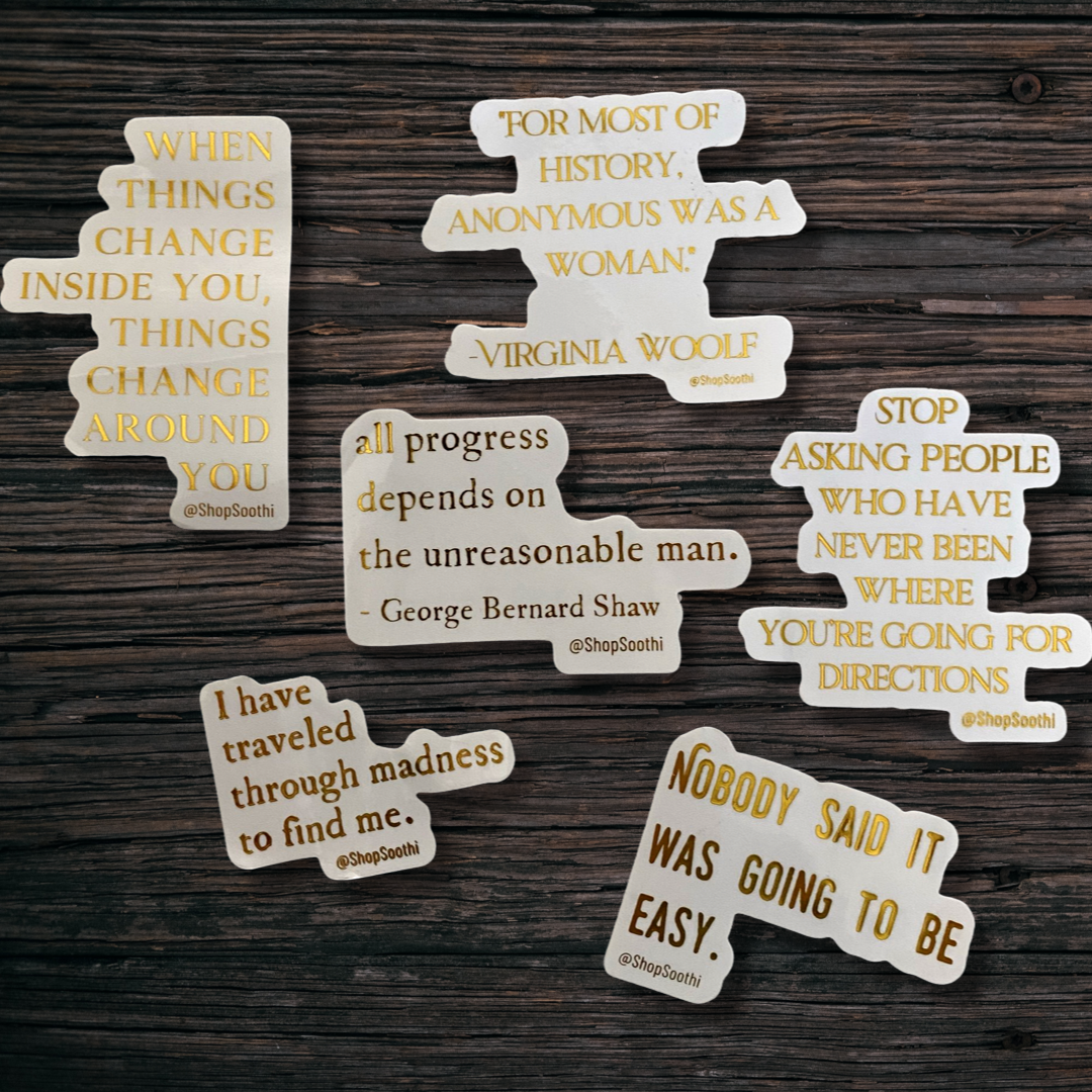 Literary Quote Stickers