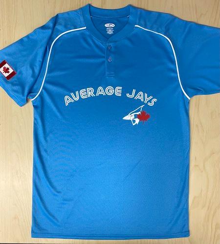 Printed Jays baseball jersey