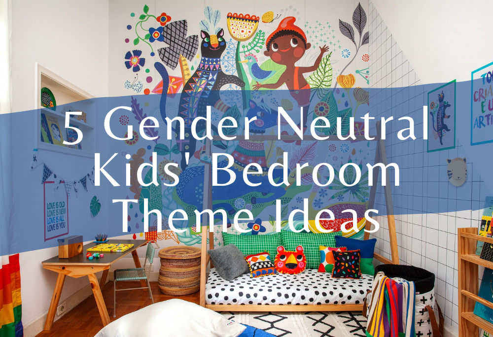 Gender neutral children's bedroom theme ideas with space kids, wild animal side,