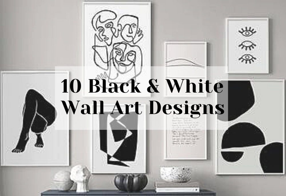 Black & White Wall Art Designs to get minimalist look