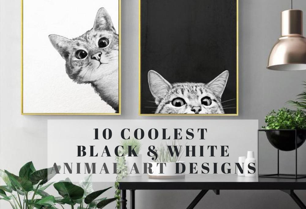 10 Coolest Black&White Animal Art Designs