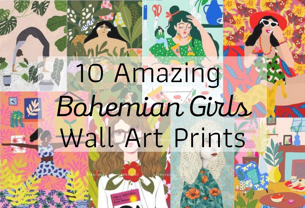 10 Amazing Bohemian Girls Gallery Wall Art Prints
