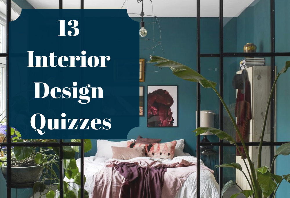 13 Interior design quizzes to decorate your home in differents styles like boho, eclectic, minimalist, modern