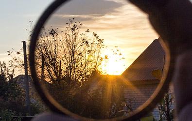 Polarised filter lens for dash cam