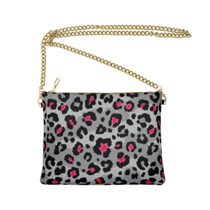 Grey Leopard Crossbody Bag