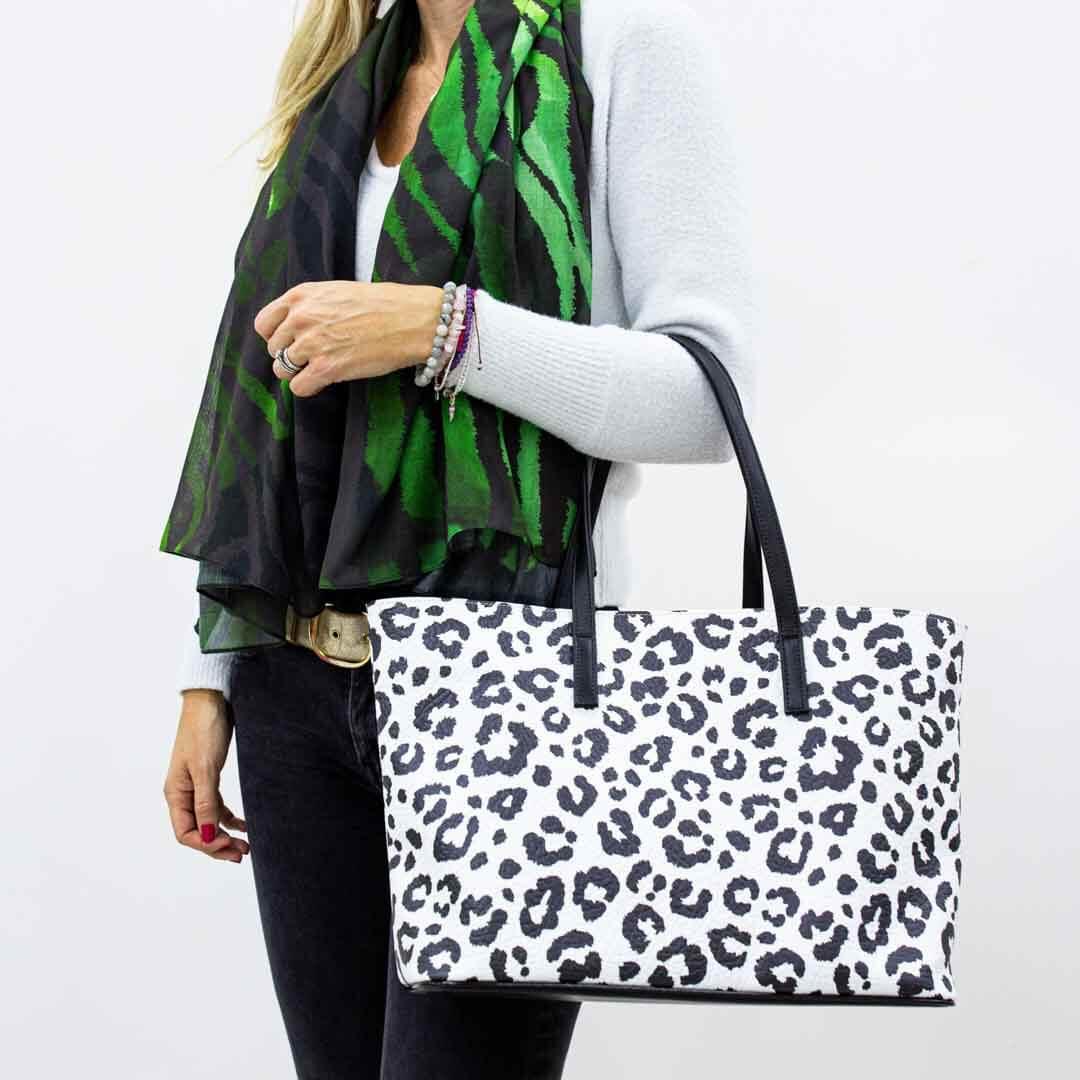 Mono Leopard Tote Bag