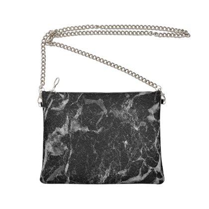 Black Marble Crossbody Bag