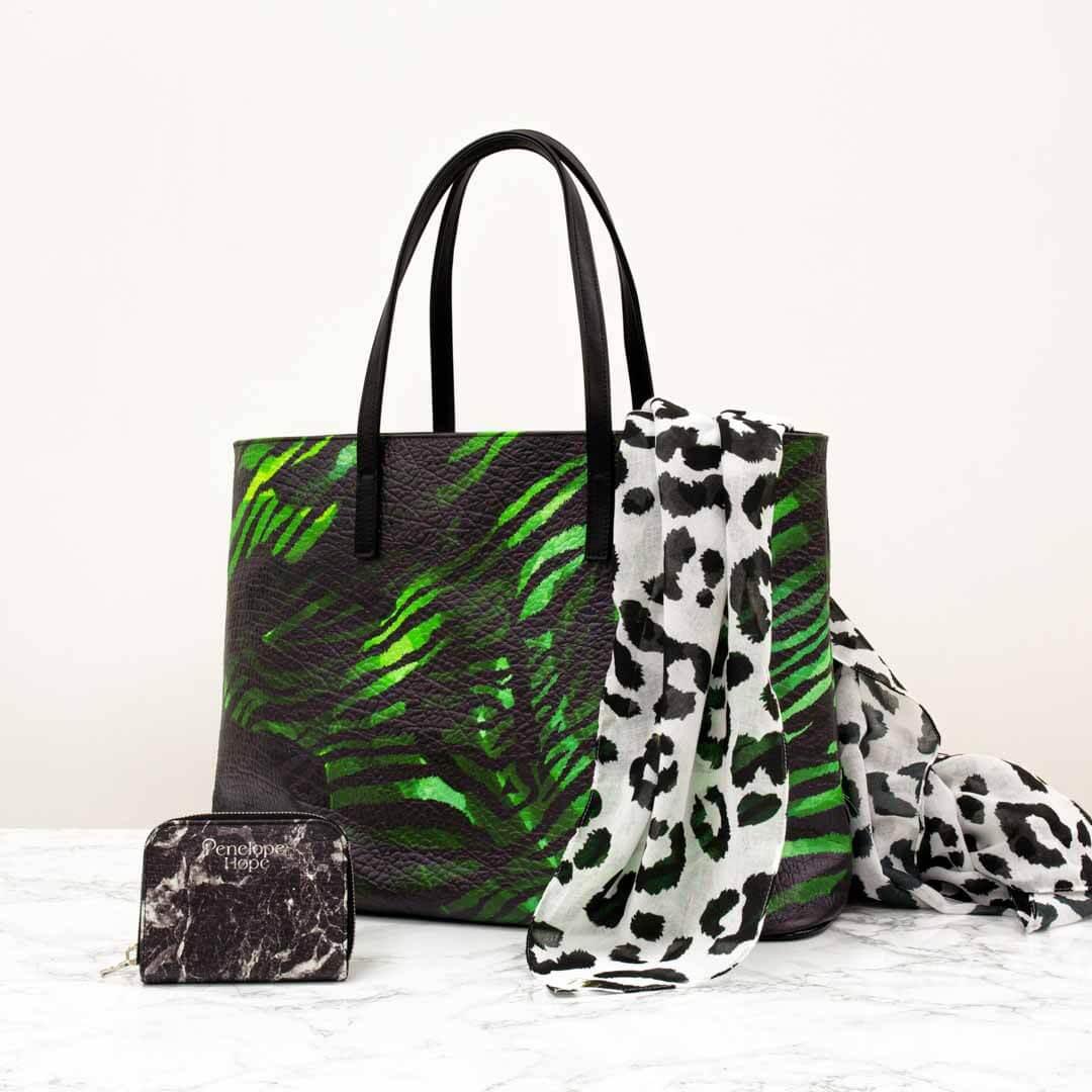 Monstera Zebra Tote Bag