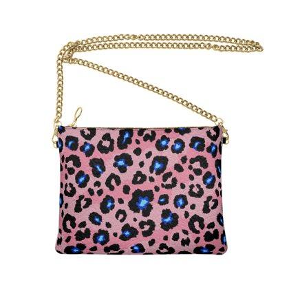 Pink Leopard Crossbody Bag