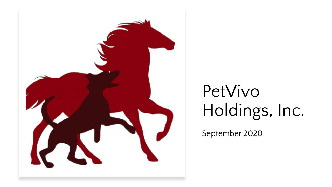 PetVivo Corporate Slide Deck September 2020
