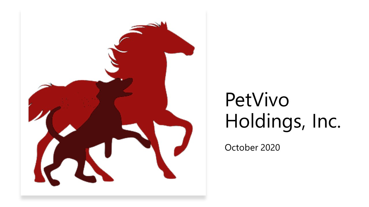 PetVivo Corporate Slide Deck September 2020