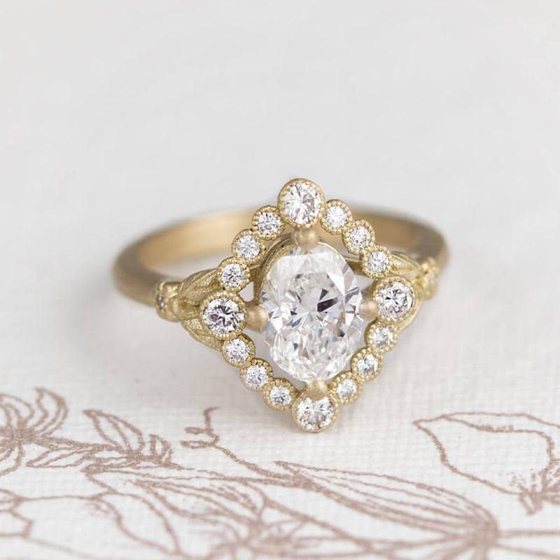 Dahlilah Oval Diamond Ring