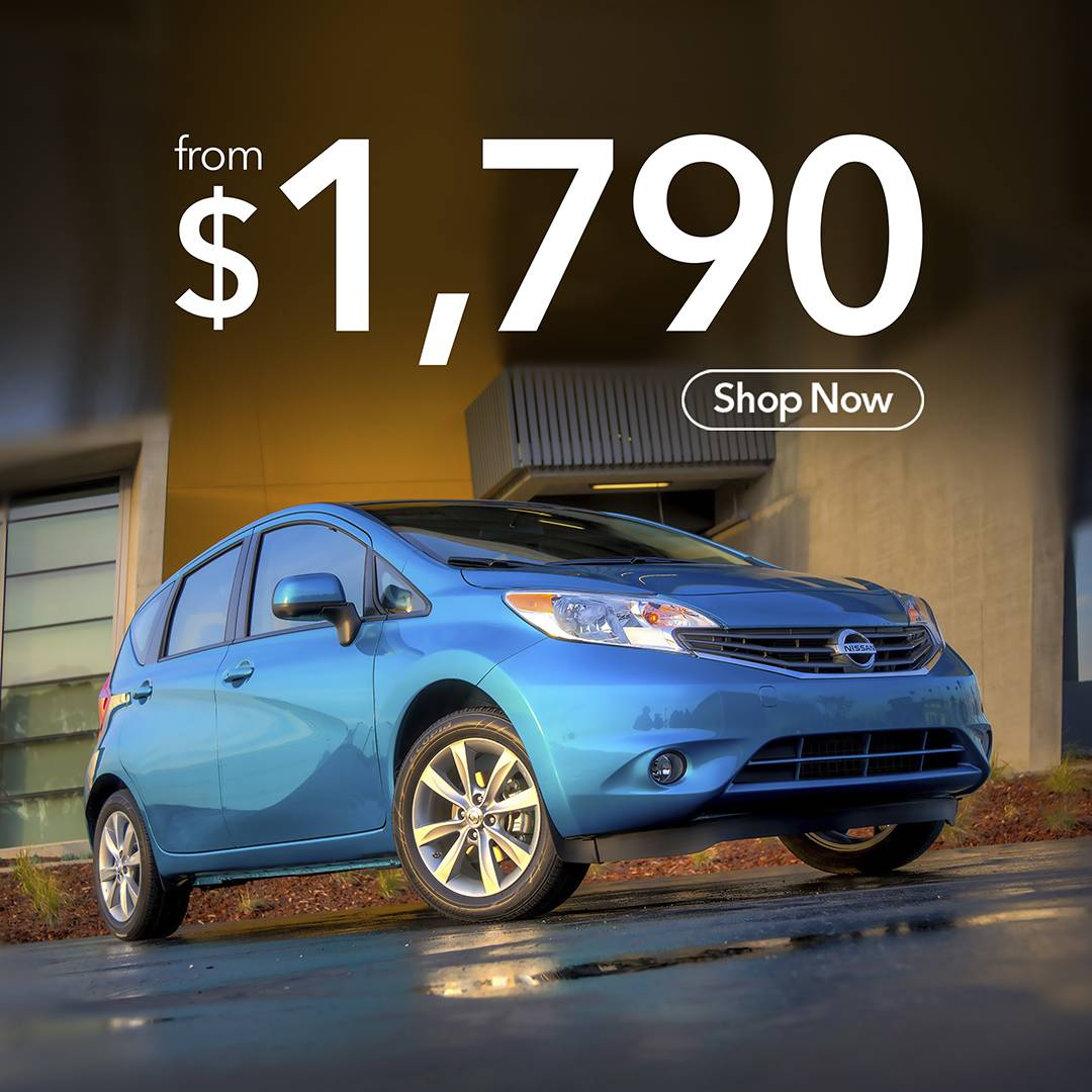 Get your 2014 Nissan Note for just $1790