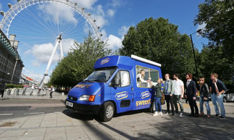 McVities ice cream van under the London Eye