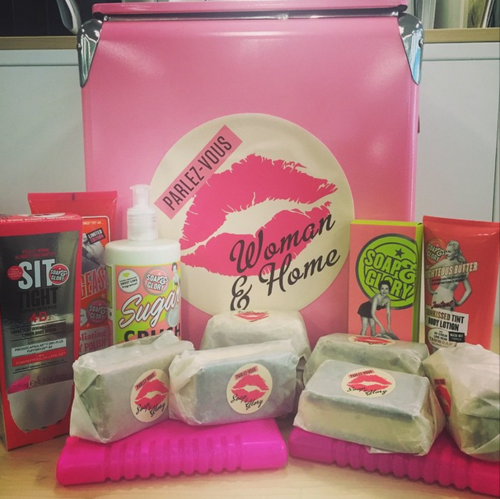 Soap and Glory products with bespoke ice creams made by Ruby Violet