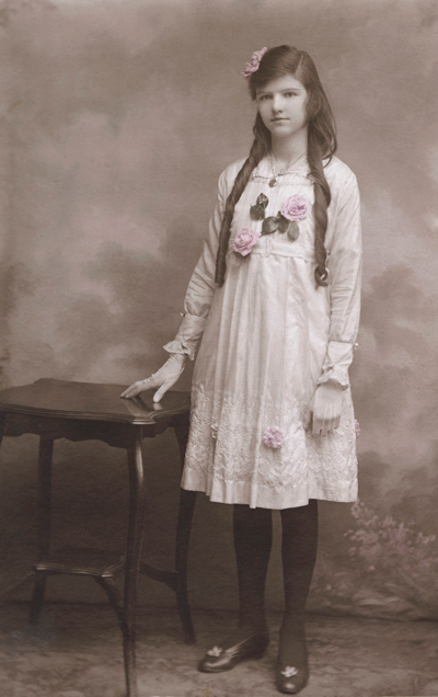 Historical photo of Ruby Violet, the maternal grandmother of Ruby Violet's founder Julie Fisher