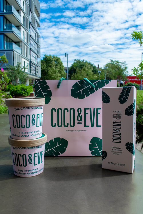 Coco and Eve bespoke ice cream tubs