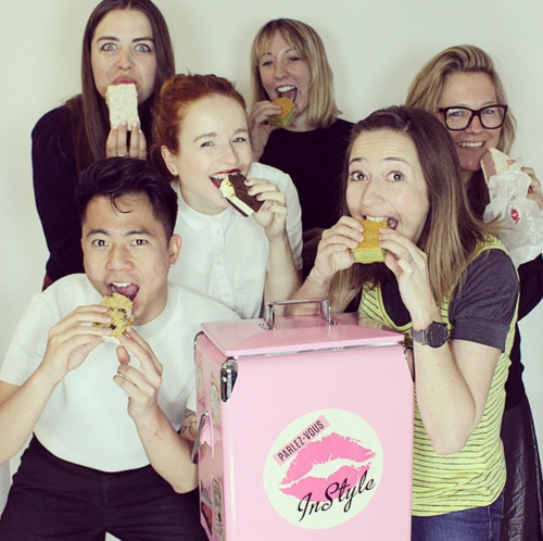 Soap and Glory team eating ice cream