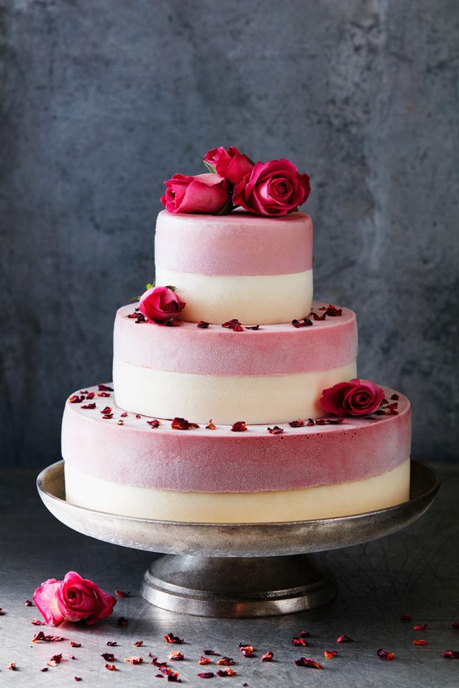 A bespoke ice cream wedding cake for a special event