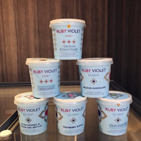 Tiny tubs of ice cream