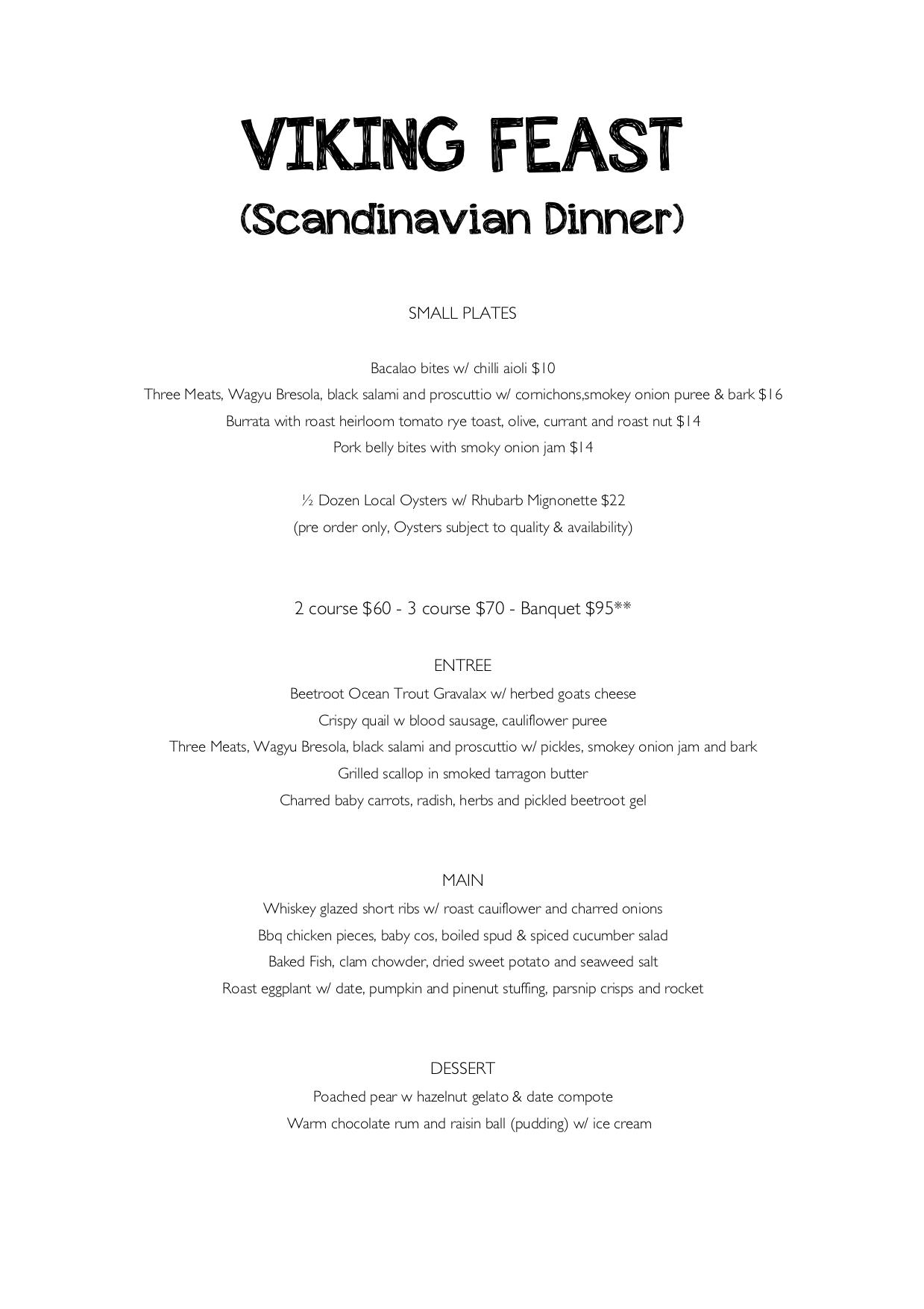 Greek Dinner Menu - Restaurant - Salty Joe's