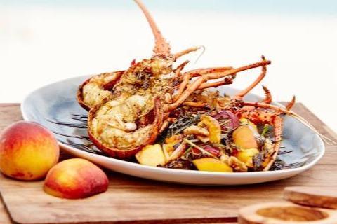 BBQ lobster & Peach Salad