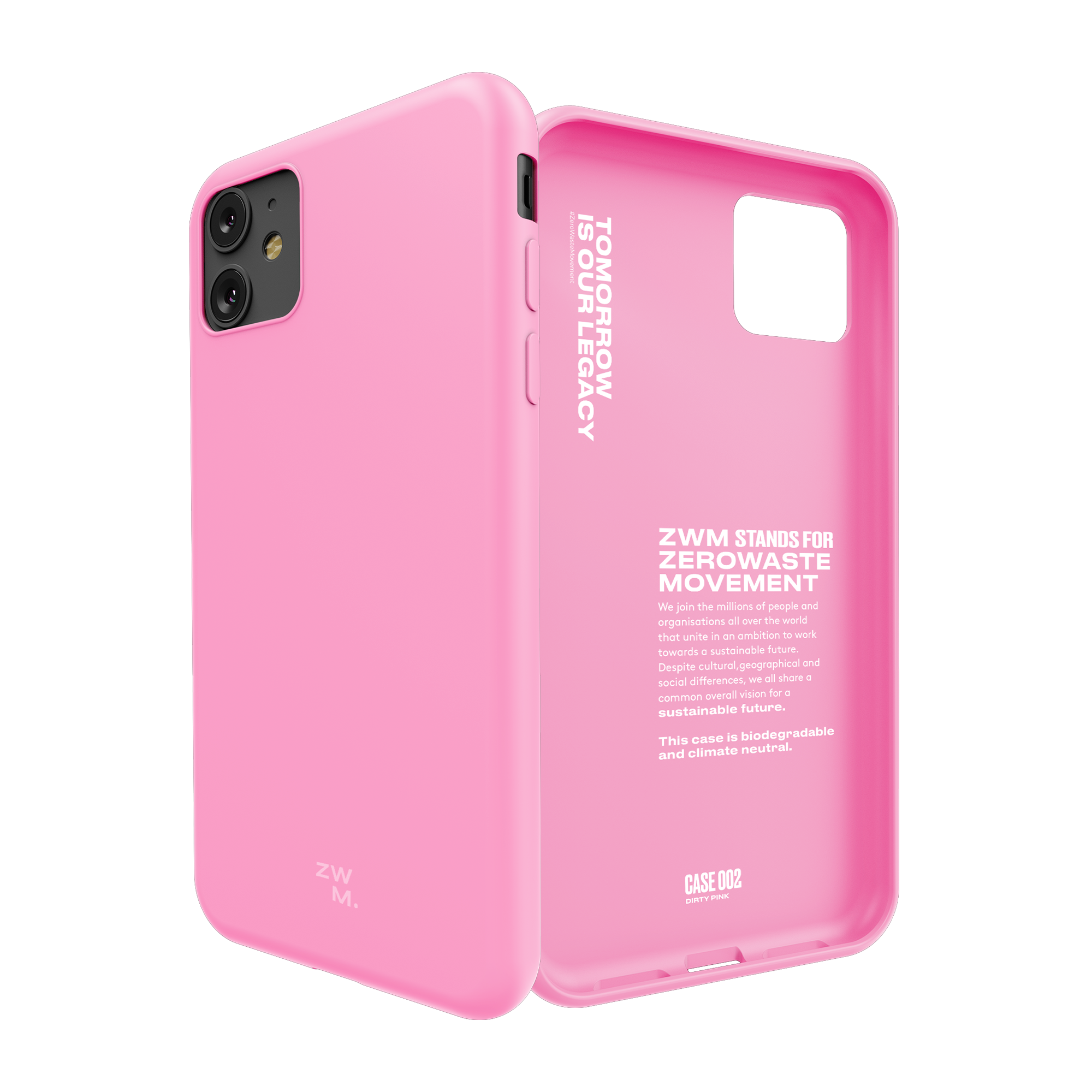 Eco friendly phone case for iPhone 11 - Dirty Pink
