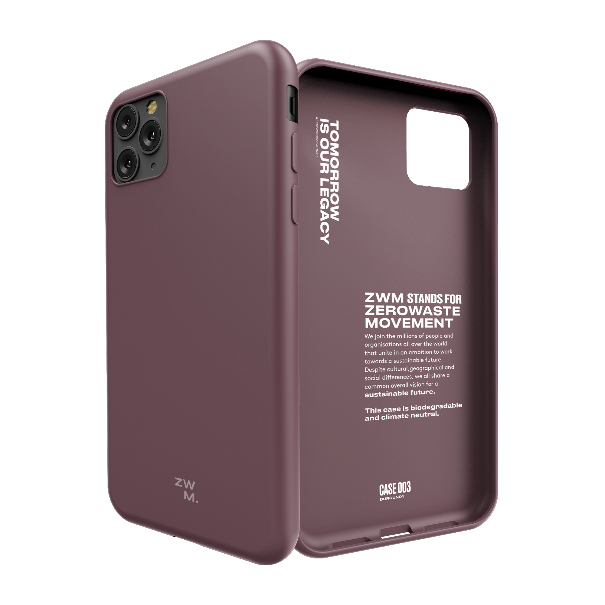 Eco friendly phone case for iPhone 11 - Burgundy